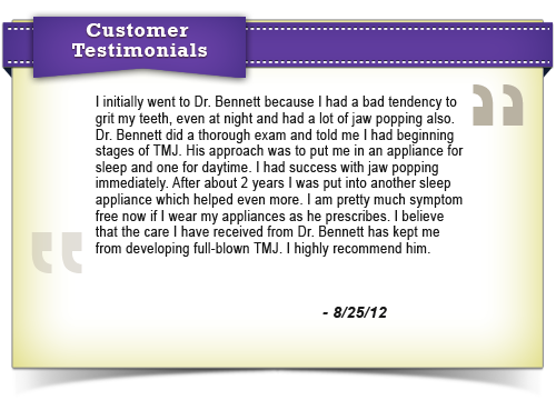 Testimonial6 - Tulsa TMJ Orofacial & Sleep Disorders Clinic